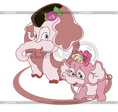 Rodzina słoni | Klipart wektorowy |ID 3813958