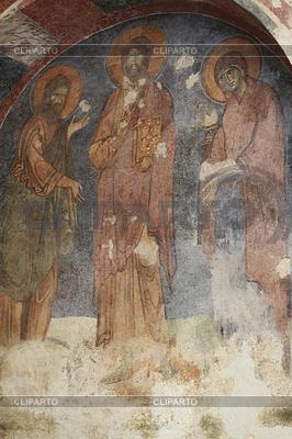 Alte Fresko an der Wand des Nikolaus Kirche, Demre | Foto mit hoher Auflösung |ID 3883778
