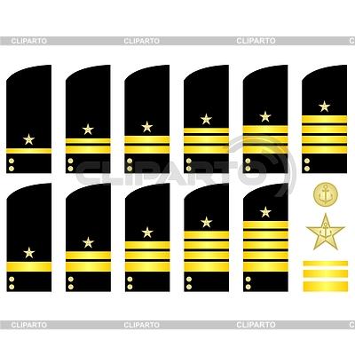 Нарукавные нашивки сотрудников ВМФ России | Векторный клипарт |ID 3759100