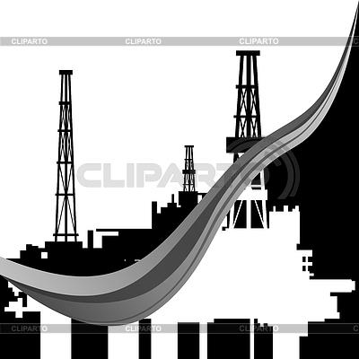 Нефтяные вышки.