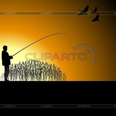 Fischer auf See | Stock Vektorgrafik |ID 3785281