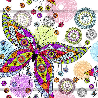 Название рисунка бабочки и цветы на тканях