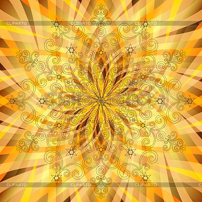 Weinlese-Orange-gold Muster mit durchscheinenden Strahlen | Stock Vektorgrafik |ID 3923118