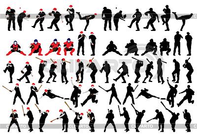 Baseballschattenbild Set | Stock Vektorgrafik |ID 3832797