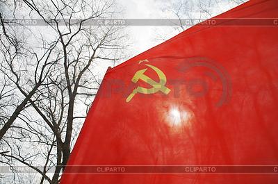 Czerwona flaga pływające | Foto stockowe wysokiej rozdzielczości |ID 3794299