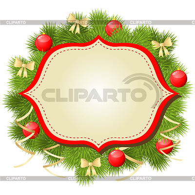 Weihnachtsglückwunschkarte Hintergrund   Stock Vektorgrafik  ID 4056378