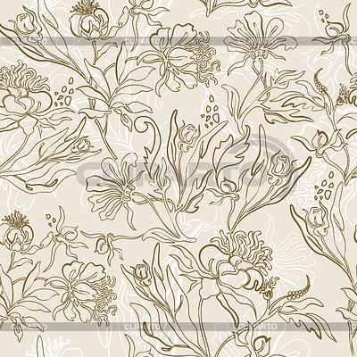 Kwiat bez szwu tła | Klipart wektorowy |ID 3898615