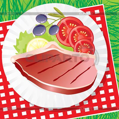 Essen und lebensmittel serie von den bildern cliparto 2 - Platos para picnic ...