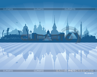 Sankt Petersburg - Skyline der Stadt | Stock Vektorgrafik |ID 3746946