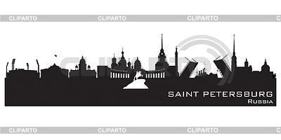 Saint Petersburg Rosja panoramę miasta Szczegółowa | Klipart wektorowy |ID 3746948