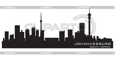Johannesburg South Africa skyline Detailed | Klipart wektorowy |ID 3785530