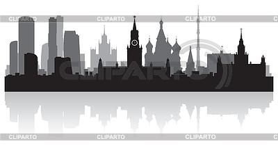 Stadt Moskau Skylineschattenbild | Stock Vektorgrafik |ID 3838741
