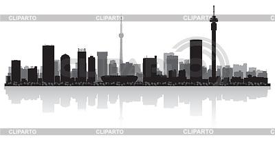 Johannesburg city skyline silhouette | Klipart wektorowy |ID 3838745