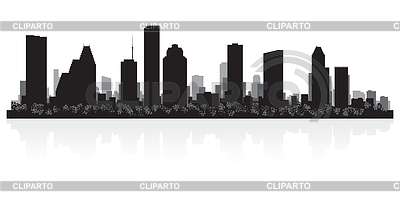 Houston city skyline silhouette | Klipart wektorowy |ID 3849112