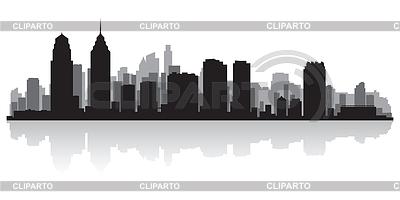 Philadelphia sylwetka miasta | Klipart wektorowy |ID 3849121