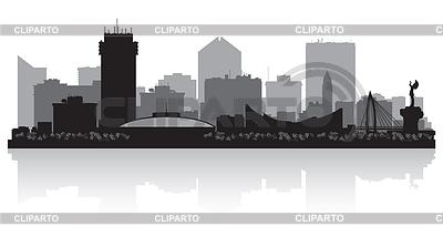 Wichita Kansas City Skyline Silhouette | Stock Vektorgrafik |ID 3904682