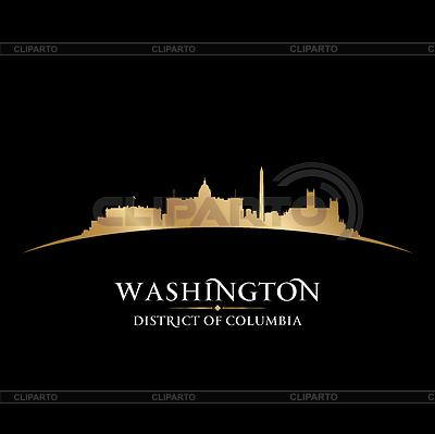 Washington DC Skyline Silhouette schwarz | Stock Vektorgrafik |ID 3972529