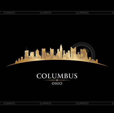 Columbus Ohio city skyline silhouette black | Klipart wektorowy |ID 3974923