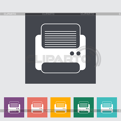 Printer flach icon | Stock Vektorgrafik |ID 3861764