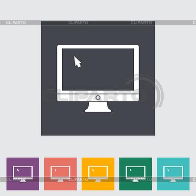 Płaski monitor ikonę | Klipart wektorowy |ID 3861776