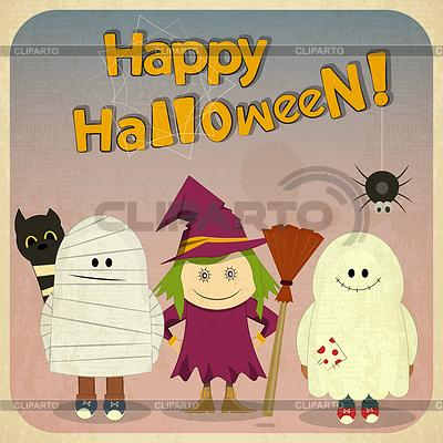 Karta Halloween retro | Klipart wektorowy |ID 3913436