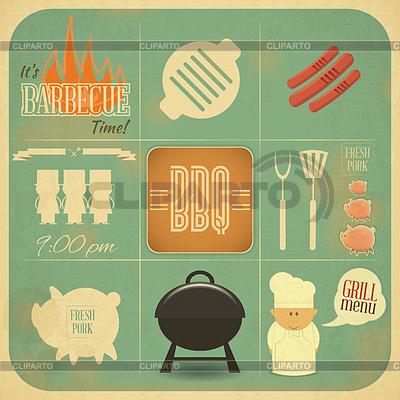 Grill-Menü BBQ | Stock Vektorgrafik |ID 3919738