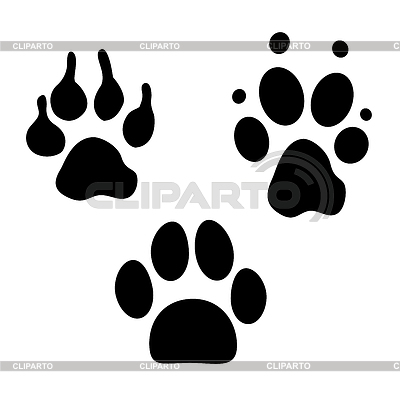 Ślady psów | Klipart wektorowy |ID 3781117