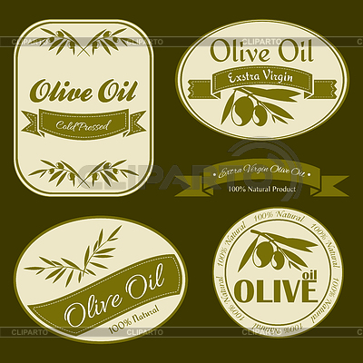 Olive oil vintage labels | Klipart wektorowy |ID 3790447