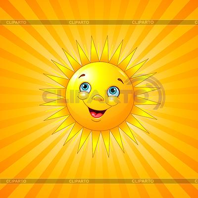 Улыбающееся солнце фото