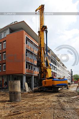 Baumaschine beim Straßenbau | Foto mit hoher Auflösung |ID 3831907
