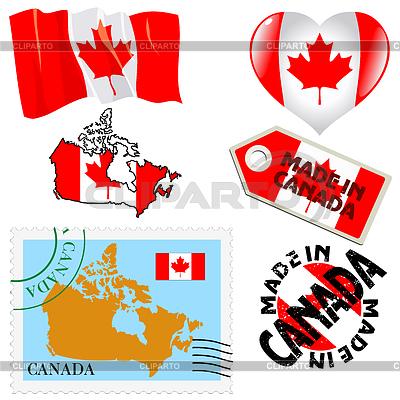 Nationalen Farben von Kanada | Stock Vektorgrafik |ID 3906329