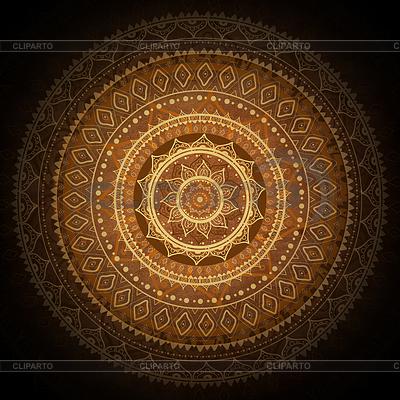 Mandala. Indian dekoracyjny wzór | Stockowa ilustracja wysokiej rozdzielczości |ID 3819979