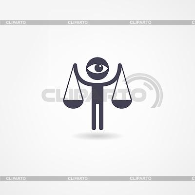 Ikona sprawiedliwości | Stockowa ilustracja wysokiej rozdzielczości |ID 3893239