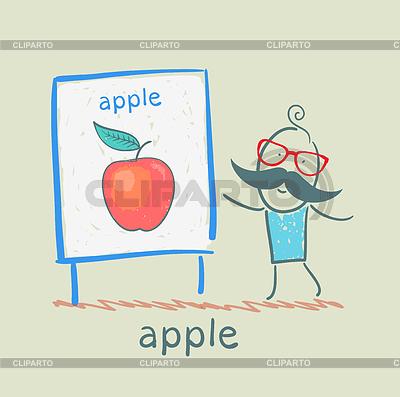 Mann zeigt Präsentation von Apple | Stock Vektorgrafik |ID 3894196