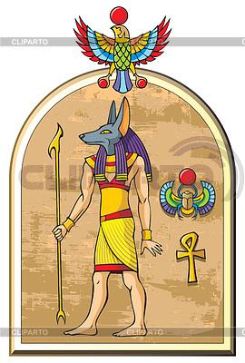 埃及神阿努比斯 | 向量插图 |ID 3975118
