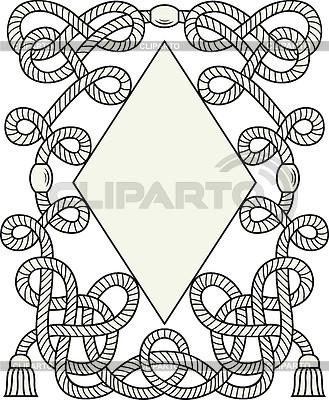 Rhombus-Schild mit Knoten | Stock Vektorgrafik |ID 3897559