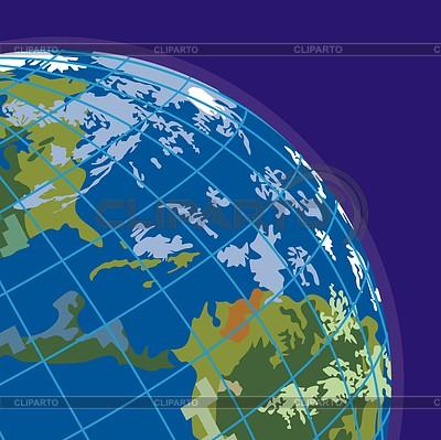 Glob, boczne America `s | Klipart wektorowy |ID 3898577