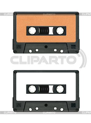 Sammlung von verschiedenen Vintage Audiokassetten. jeweils | Foto mit hoher Auflösung |ID 3788288