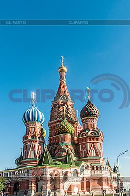 Znani st Wasilij Błogosławiony katedry w Moskwie | Foto stockowe wysokiej rozdzielczości |ID 3723517