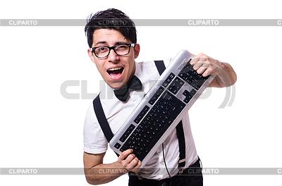 Смешной компьютерщик | Фото большого размера |ID 3751809
