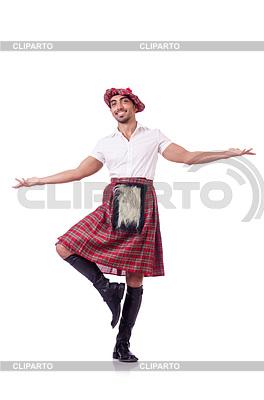 Scottish Mann tanzt | Foto mit hoher Auflösung |ID 3769056