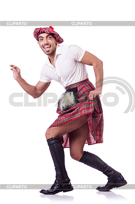 Scottish Mann tanzt | Foto mit hoher Auflösung |ID 3769057