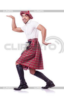 Scottish Mann tanzt | Foto mit hoher Auflösung |ID 3786736