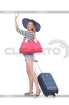 Junge Frau vorbereitet sich für den Urlaub | Foto mit hoher Auflösung |ID 3863227