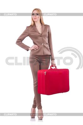Junge Frau vorbereitet sich für den Urlaub | Foto mit hoher Auflösung |ID 3863478