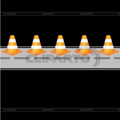 Hintergrund mit Leitkegel auf der Straße | Stock Vektorgrafik |ID 3793297