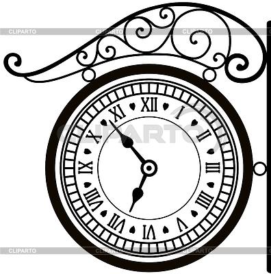 Ретро-часы улицы   Векторный клипарт  ID ...: клипарт.рф/изображение/3780852-ретро...