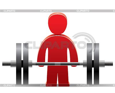 Bodybuilder und Gewicht | Stock Vektorgrafik |ID 3787449