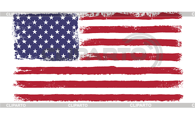 Stars and stripes. Grunge-Version der amerikanischen Flagge | Stock Vektorgrafik |ID 3797279