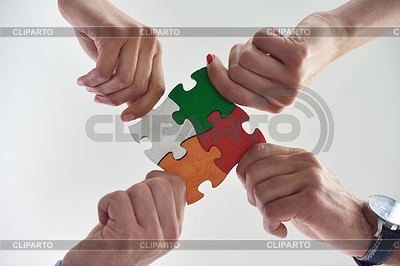 Rozwiązanie business puzzle | Foto stockowe wysokiej rozdzielczości |ID 3793799